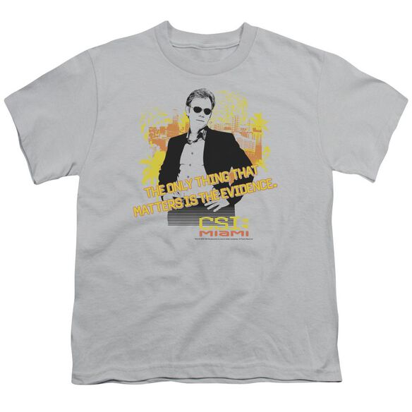 CSI MIAMI HAND ON HIPS - S/S YOUTH 18/1 - SILVER T-Shirt