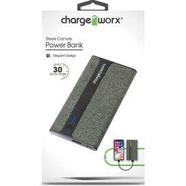Chargeworx 4000mAh Sleek Canvas Power Bank [Green]