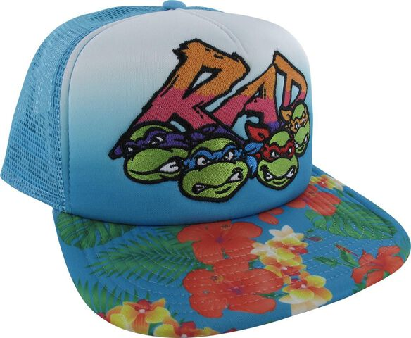 22dddcbaeef Images. Ninja Turtles Rad Flowers Trucker Snapback Hat