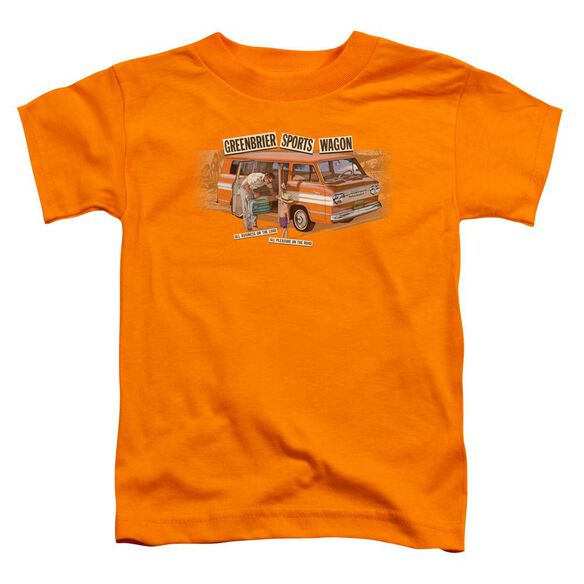 Chevrolet Greenbrier Corvair Sport Wagon Short Sleeve Toddler Tee Orange T-Shirt