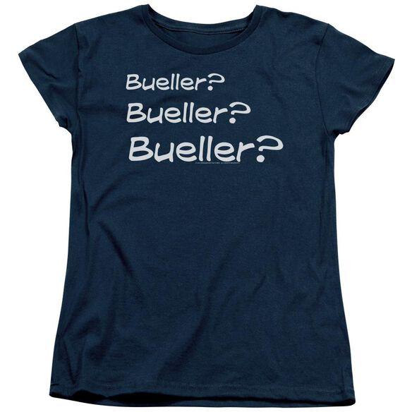 Ferris Bueller Bueller? Short Sleeve Womens Tee T-Shirt