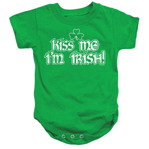 Kiss Me Im Irish-infant Snapsuit-kelly