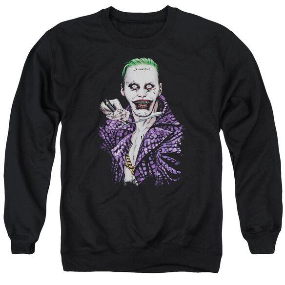 Suicide Squad Blade Adult Crewneck Sweatshirt
