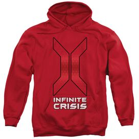 Infinite Crisis Title Adult Pull Over Hoodie