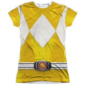 Power Rangers Yellow Ranger Short Sleeve Junior Poly Crew T-Shirt