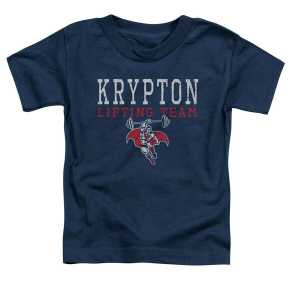 Dco Krpton Lifting Short Sleeve Toddler Tee Navy T-Shirt