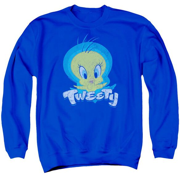 Looney Tunes Tweety Swirl Adult Crewneck Sweatshirt Royal