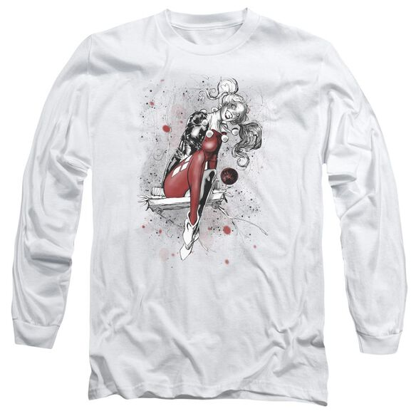 Jla Harley Sketch Long Sleeve Adult T-Shirt