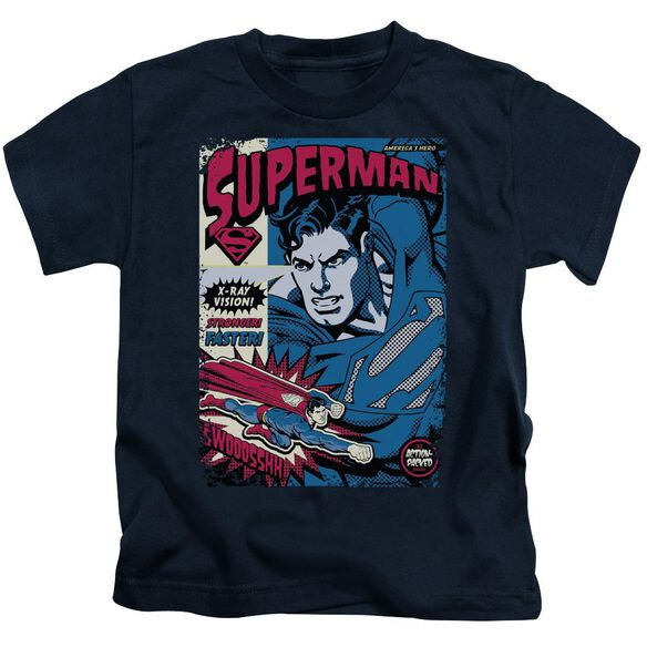 SUPERMAN ACTION PACKED - S/S JUVENILE 18/1 - NAVY - T-Shirt