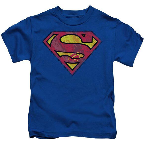 Superman Action Shield Short Sleeve Juvenile Royal Blue T-Shirt
