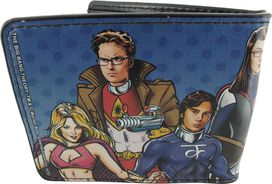 Big Bang Theory Superhero Group Wallet