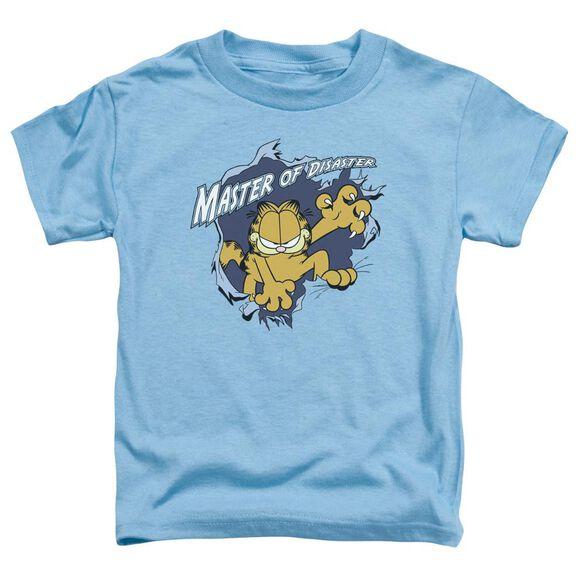 Garfield Master Of Disaster Short Sleeve Toddler Tee Carolina Blue T-Shirt