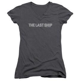 Last Ship Distressed Logo Junior V Neck T-Shirt