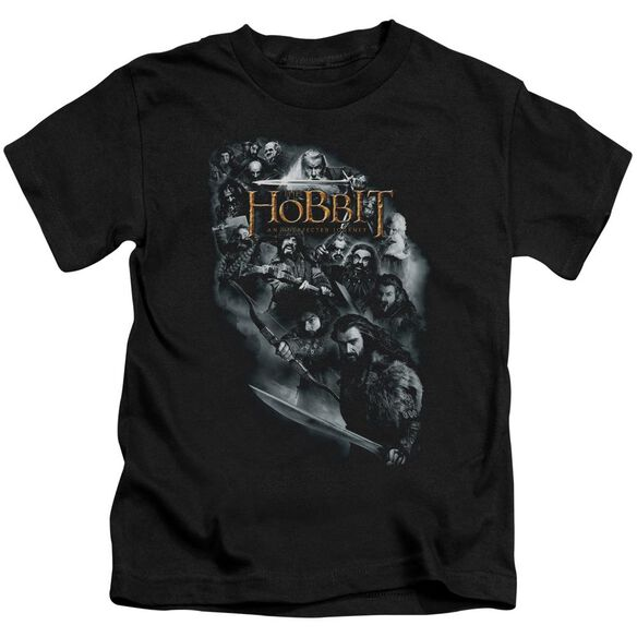 The Hobbit Cast Of Characters Short Sleeve Juvenile Black Md T-Shirt