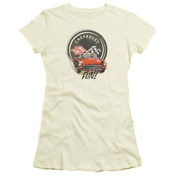 Chevrolet Vette Fun Short Sleeve Junior Sheer T-Shirt