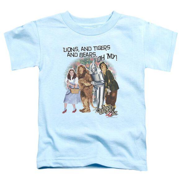 Wizard Of Oz Oh My Short Sleeve Toddler Tee Light Blue T-Shirt