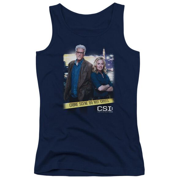 Csi Do Not Cross Juniors Tank Top