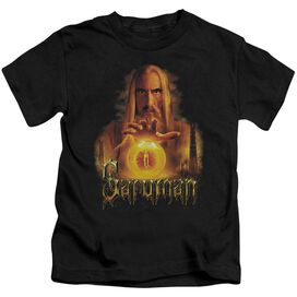 Lor Saruman Short Sleeve Juvenile Black T-Shirt