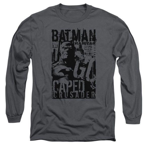 Batman Caped Crusader Long Sleeve Adult T-Shirt