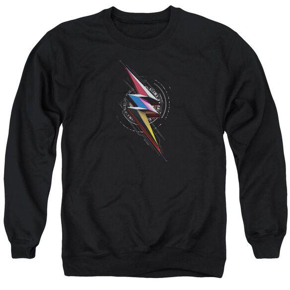 Power Rangers Bolt Sigil Adult Crewneck Sweatshirt