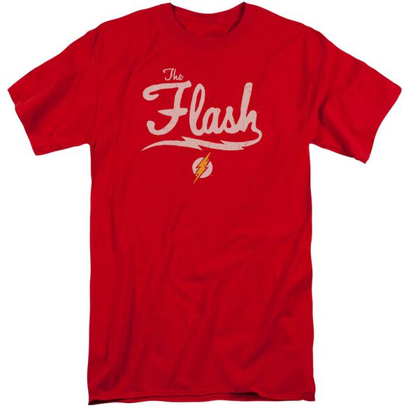 Jla Old School Flash Short Sleeve Adult Tall T-Shirt