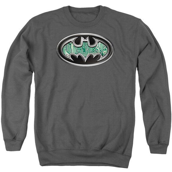 Batman Circuitry Shield Adult Crewneck Sweatshirt
