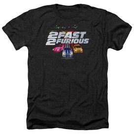 2 Fast 2 Furious Logo - Adult Heather - Black
