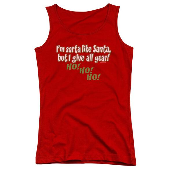 Sorta Like Santa Juniors Tank Top