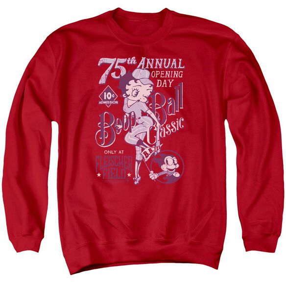 Betty Boop Boop Ball Adult Crewneck Sweatshirt