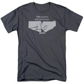 Psych Fist Bump Short Sleeve Adult T-Shirt