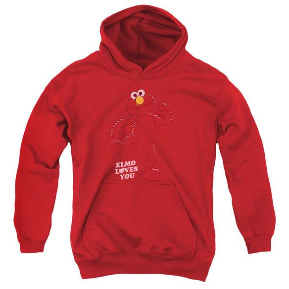 Sesame Street Elmo Loves You Youth Pull Over Hoodie