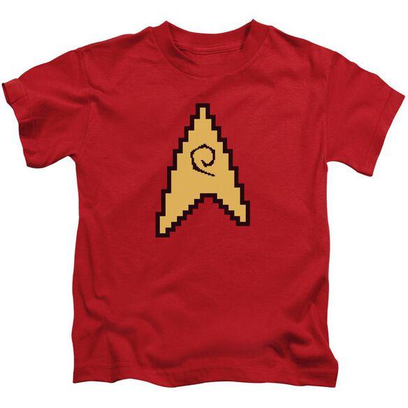 Star Trek 8 Bit Engineering Short Sleeve Juvenile T-Shirt