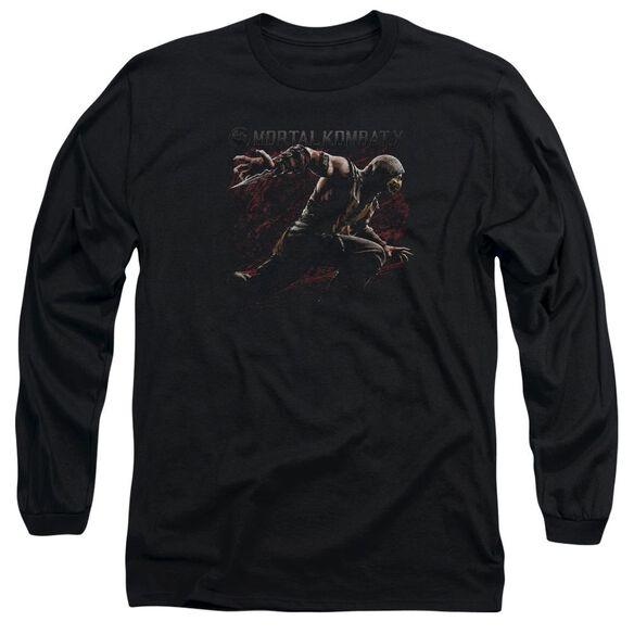 Mortal Kombat Scorpion Lunge Long Sleeve Adult T-Shirt
