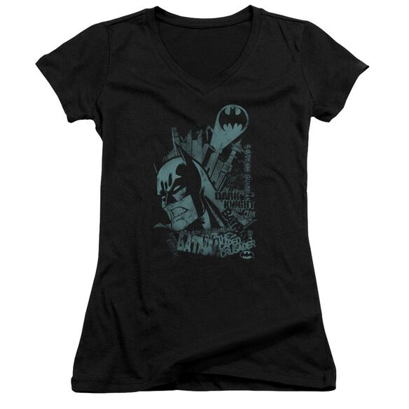 Batman Gritted Teeth - Junior V-neck - Black