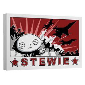 Family Guy Stewie Propaganda Canvas Wall Art With Back Board