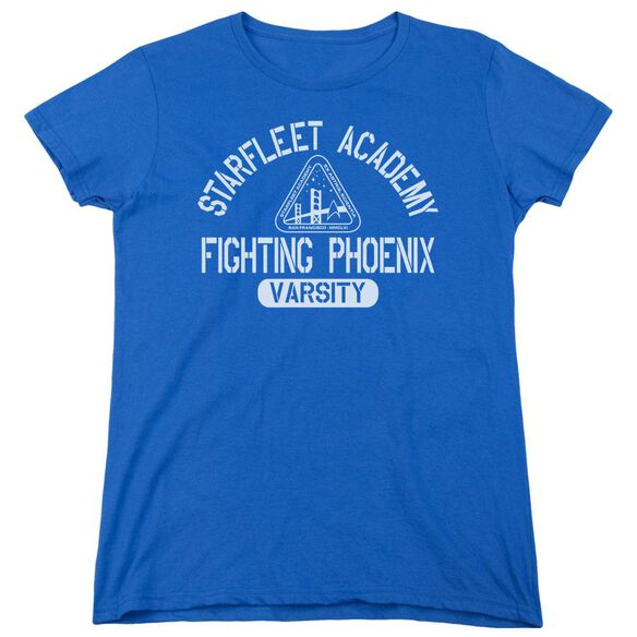 Star Trek Varsity Short Sleeve Women's Tee Royal T-Shirt