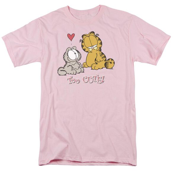 Garfield Too Cute Short Sleeve Adult Pink T-Shirt