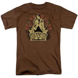 Sun Elvis Rising Short Sleeve Adult Coffee T-Shirt