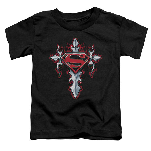 SUPERMAN GOTHIC STEEL LOGO - S/S TODDLER TEE - BLACK - T-Shirt