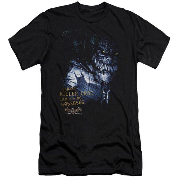 BATMAN AA ARKHAM KILLER CROC - S/S ADULT 30/1 - BLACK T-Shirt