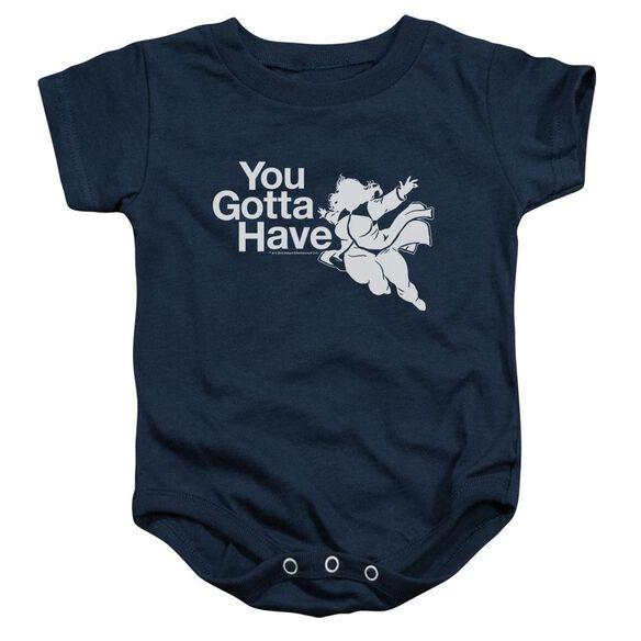 Valiant You Gotta Have Faith Infant Snapsuit Navy