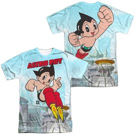 Astro Boy City Boy (Front Back Print) Short Sleeve Adult Poly Crew T-Shirt