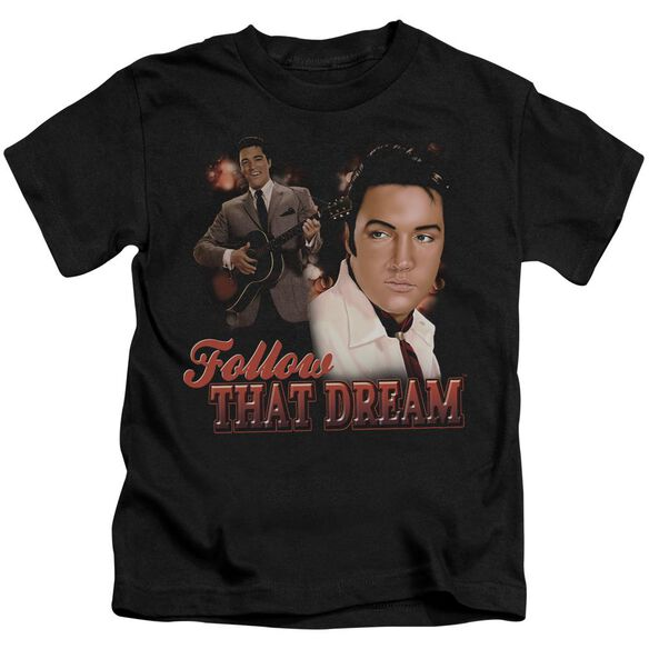 Elvis Follow That Dream Short Sleeve Juvenile Black T-Shirt