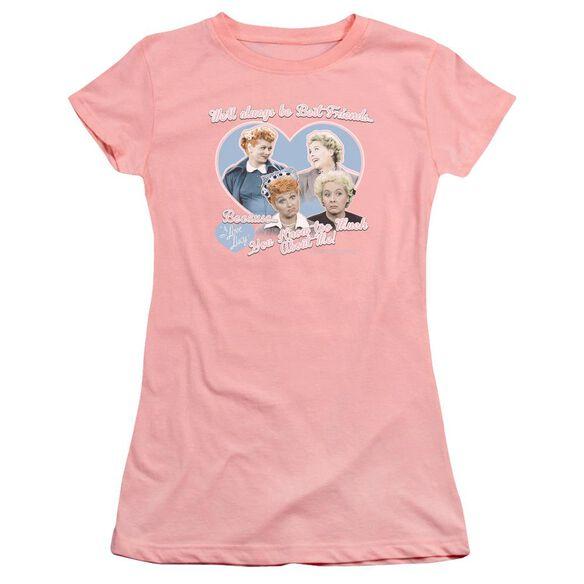 I Love Lucy Always Best Friends Premium Bella Junior Sheer Jersey