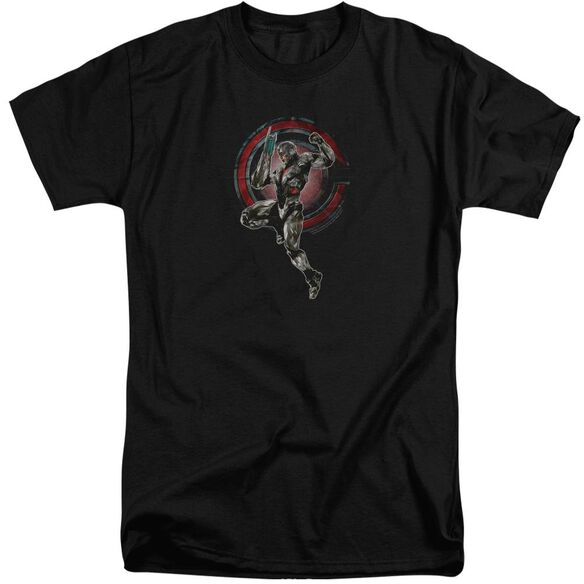 Justice League Movie Cyborg Short Sleeve Adult Tall T-Shirt