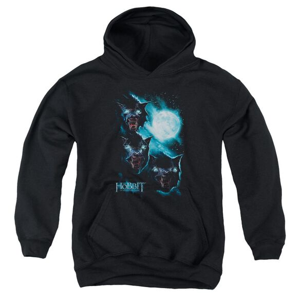 The Hobbit Three Warg Moon Youth Pull Over Hoodie