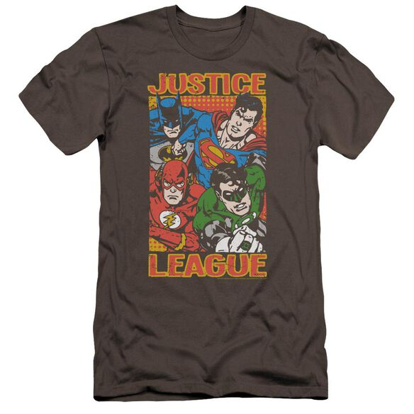 Jla Hero Mashup Premuim Canvas Adult Slim Fit