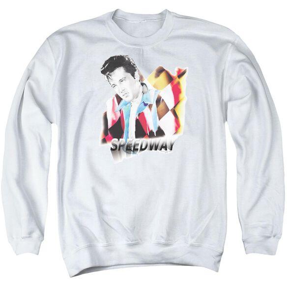 Elvis Speedway Adult Crewneck Sweatshirt