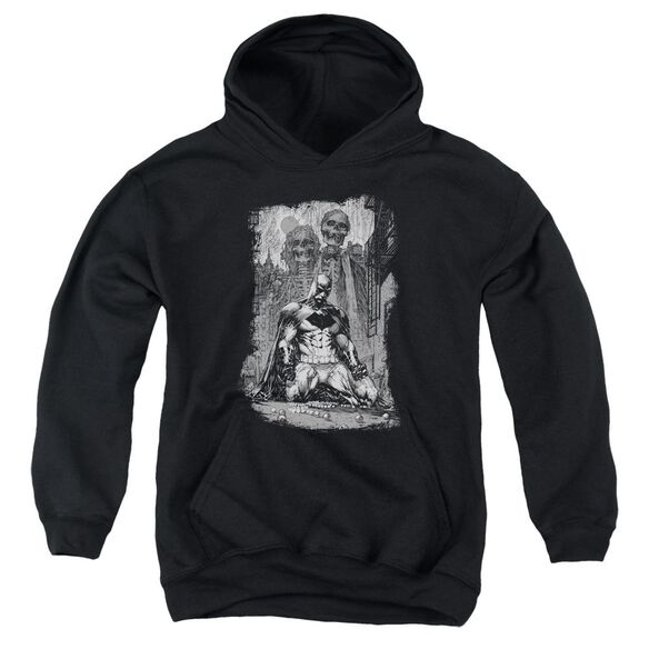 Batman Sketchy Shadows Youth Pull Over Hoodie
