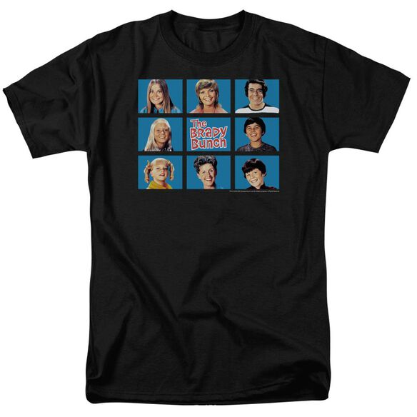 BRADY BUNCH FRAMED - S/S ADULT 18/1 - BLACK T-Shirt